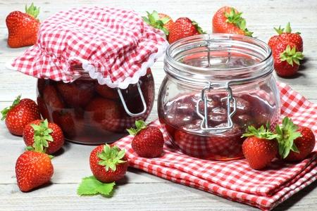 Huis ingeblikte aardbeien