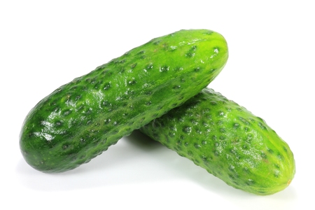 mellowness: cucumbers isolated on white background