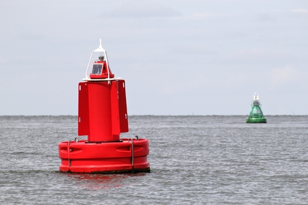 navigational: lateral buoys at the edge of a fairway