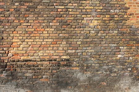 clinker: weathered brick wall for background use