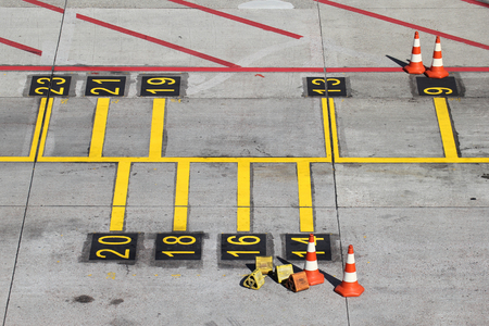 parking position for airliners at large airport