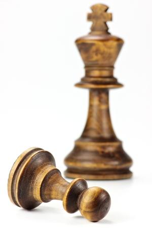 Pawn Sacrifice isolated on white background