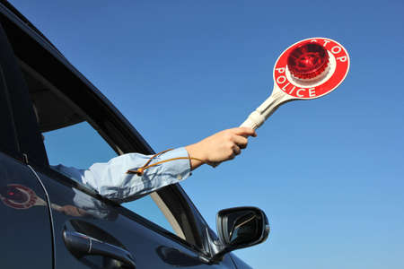 out of control: trafficstop Stock Photo