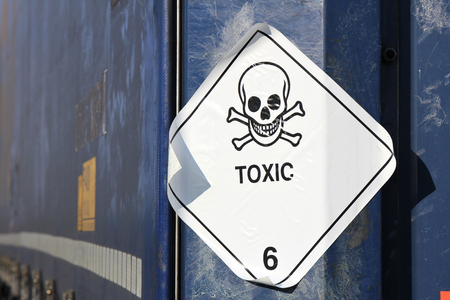 substances: pictogram for chemical hazard - toxic substances Stock Photo