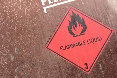 pictogram for chemical hazard - flammable liquids