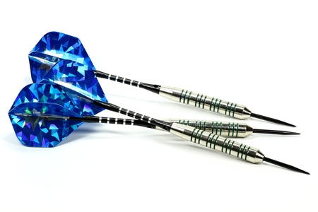 steel darts isolated on white background