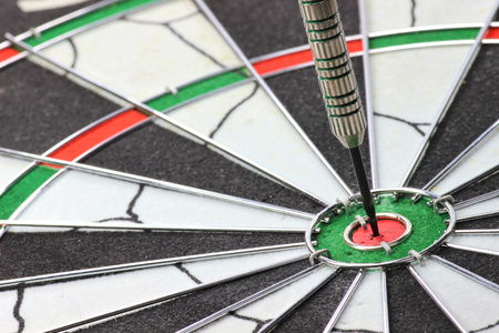 precisely: steel dart hit the mark