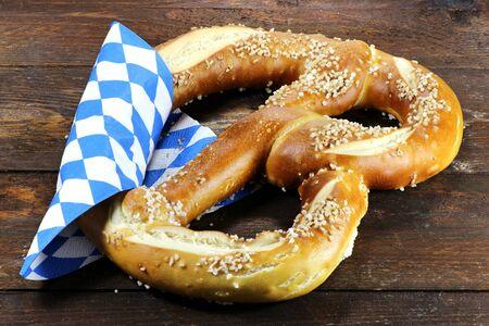 traditional Bavarian Oktoberfest pretzel