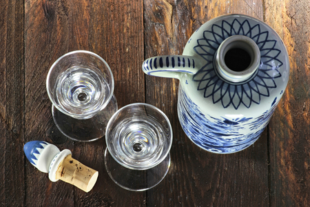 traditionally dutch: Dutch gin traditionally served in tulip-shaped glasses Stock Photo
