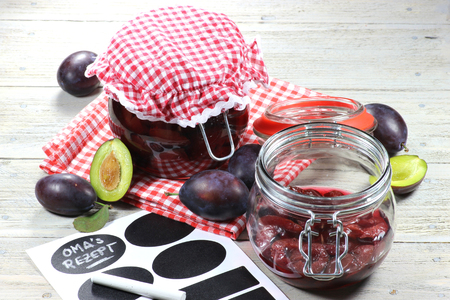 mellow: home canned plums