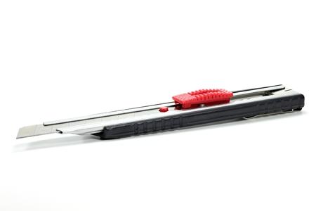 boxcutter: utility knife isolated on white background