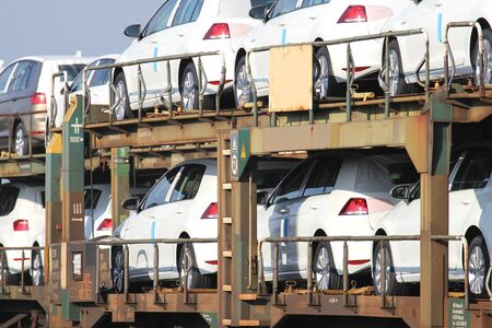 foreign trade: autorack with cars