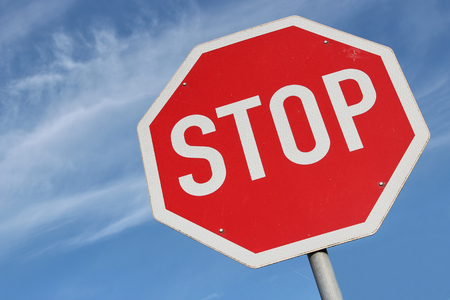 with stop sign: German road sign - stop