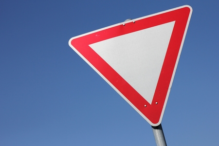 give the way: German road sign - give way Stock Photo