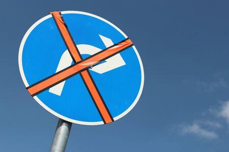 inoperative: German road sign - right turn