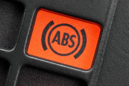 brake: ABS warning light in car dashboard