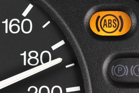 abs: ABS warning light in car dashboard