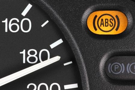 dashboard: ABS warning light in car dashboard