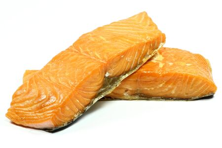 salmon ahumado: filete de salmón ahumado