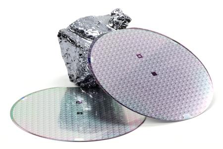 wafers isolated on white background Stockfoto