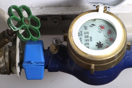 water meter installed in private household