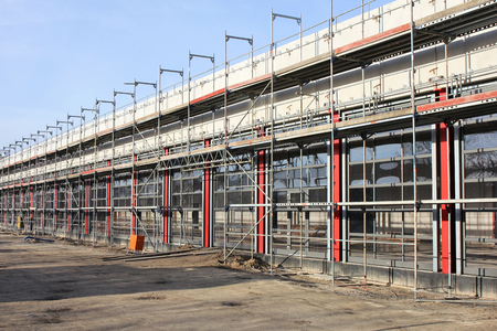 couplers: Scaffolding at building currently under construction