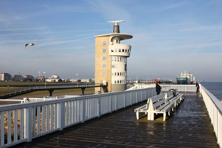 lower value: famous observation deck at the river Elbe