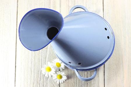 enamel: enamel inhalator on wooden background Stock Photo