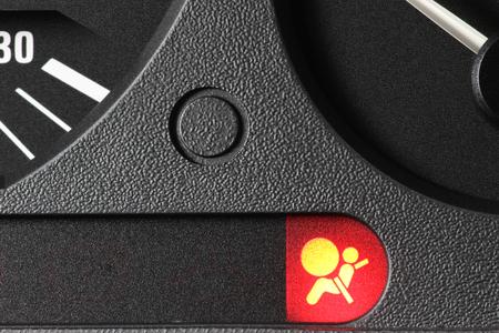 Témoin airbag au tableau de bord de voiture Banque d'images - 52074592