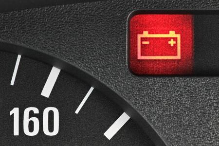 garage automobile: Témoin de la batterie Banque d'images