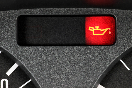 oil warning light in car dashboard Stock Photo