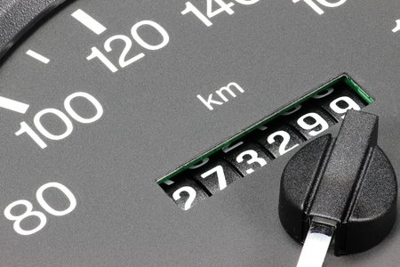 odometer of used car showing mileage of 273 299