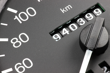 odometer of used car showing mileage of 940 399