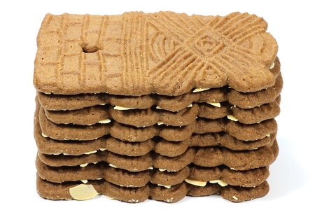 speculaas: speculaas isolated on white background Stock Photo