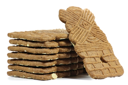 christmas baker's: speculaas isolated on white background Stock Photo