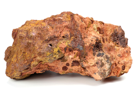 Les Baux-de-Provence bauxite isolated on white background