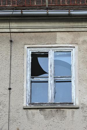 modernize: smashed window Stock Photo