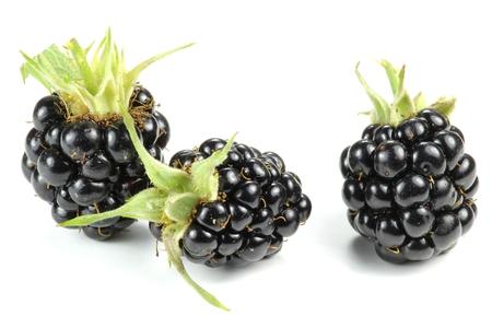 ionizing: blackberries isolated on white background