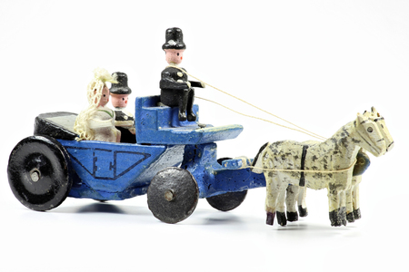 erzgebirge: horse-drawn wedding coach from the Ore Mountains  Germany Stock Photo