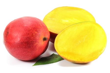 drupe: mango isolated on white background