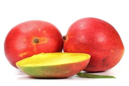 mellowness: mango isolated on white background
