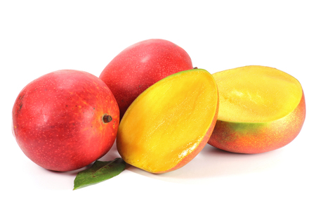 mellowness: mango isolated on white background
