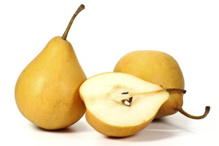 mellowness: pears variety Beeregrie isolated on white background