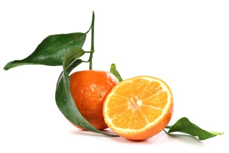 mellowness: clementine isolated on white background