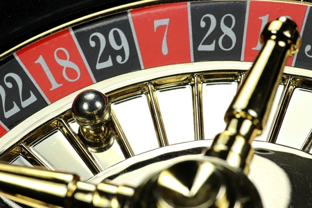 fortune: winning number in roulette Stock Photo