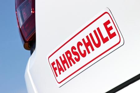 German driving school car sign
