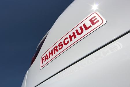 driving school: German driving school car sign