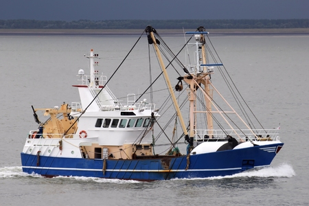 shrimp boat: fishing vessel Stock Photo