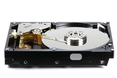 hard disk drive: hard disk drive isolated on white background Stock Photo