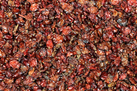 barberries: dried barberries for background use Stock Photo